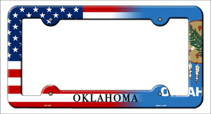 Oklahoma|American Flag Wholesale Novelty Metal License Plate Frame