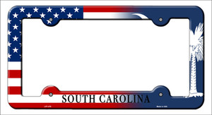South Carolina|American Flag Wholesale Novelty Metal License Plate Frame