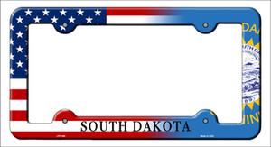 South Dakota|American Flag Wholesale Novelty Metal License Plate Frame