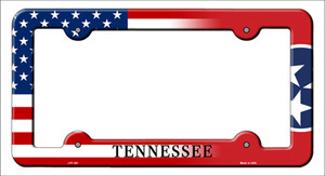 Tennessee|American Flag Wholesale Novelty Metal License Plate Frame