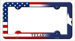 Texas|American Flag Wholesale Novelty Metal License Plate Frame