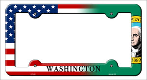 Washington|American Flag Wholesale Novelty Metal License Plate Frame