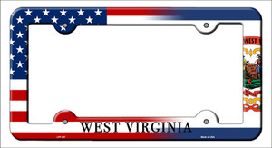 West Virginia|American Flag Wholesale Novelty Metal License Plate Frame