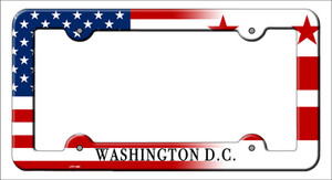 Washington DC|American Flag Wholesale Novelty Metal License Plate Frame