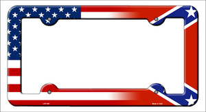 Confederate|American Flag Wholesale Novelty Metal License Plate Frame