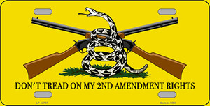 Dont Tread On My 2nd Amendment Wholesale Novelty Metal License Plate