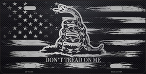 Dont Tread On Me Distressed Flag Wholesale Novelty Metal License Plate