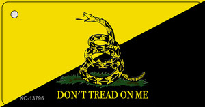 Dont Tread On Me Yellow|Black Wholesale Novelty Metal Key Chain