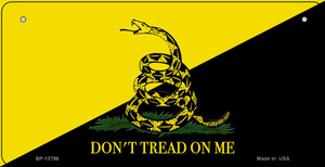 Dont Tread On Me Yellow|Black Wholesale Novelty Metal Bicycle Plate