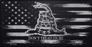 Dont Tread On Me Distressed Flag Wholesale Novelty Metal Bicycle Plate