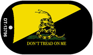 Dont Tread On Me Yellow|Black Wholesale Novelty Metal Dog Tag Necklace