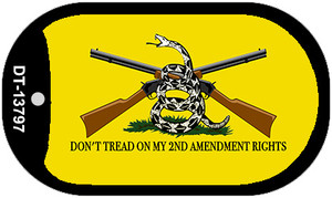Dont Tread On My 2nd Amendment Wholesale Novelty Metal Dog Tag Necklace