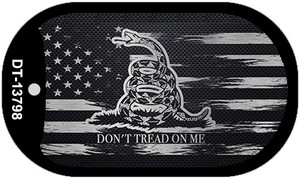 Dont Tread On Me Distressed Flag Wholesale Novelty Metal Dog Tag Necklace