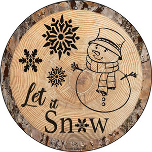 Let it Snow Wholesale Novelty Metal Circular Sign