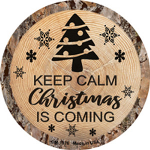 Christmas Is Coming Wholesale Novelty Metal Mini Circle Magnet