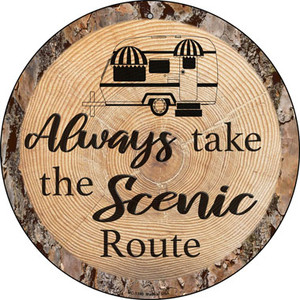 Scenic Route Wholesale Novelty Small Metal Circular Sign