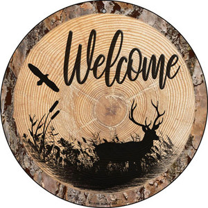 Welcome Elk Wholesale Novelty Small Metal Circular Sign