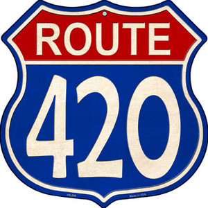 Route 420 Blue and Red Wholesale Novelty Metal Highway Shield