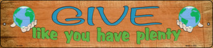 Give Have Plenty Wholesale Novelty Small Metal Street Sign