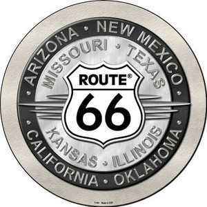 Route 66 States Wholesale Novelty Metal Circular Sign