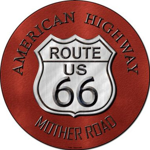 Route 66 American Highway Wholesale Novelty Metal Circular Sign