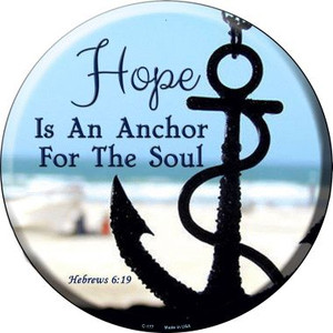 Hope Anchor For Soul Wholesale Novelty Metal Circular Sign