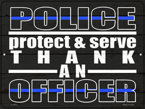 Thank An Officer Wholesale Novelty Metal Parking Sign
