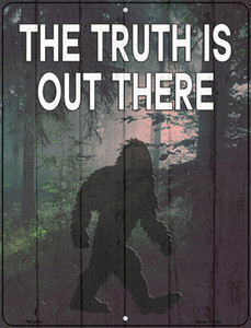 The Truth Is Out There Wholesale Novelty Mini Metal Parking Sign