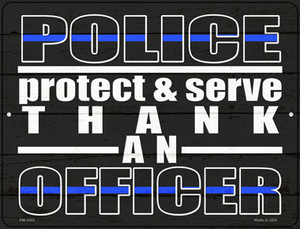 Thank An Officer Wholesale Novelty Mini Metal Parking Sign