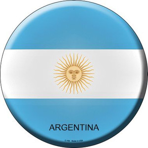 Argentina Country Wholesale Novelty Metal Circular Sign