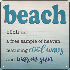 Beach Wholesale Novelty Metal Square Sign