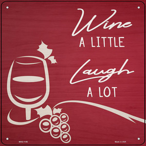 Wine A Little Wholesale Novelty Mini Metal Square Sign