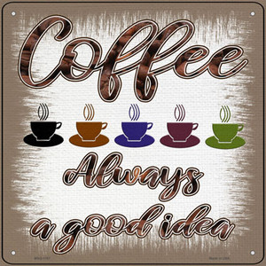 Coffee Good Idea Wholesale Novelty Mini Metal Square Sign