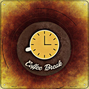 Coffee Break Wholesale Novelty Mini Metal Square Sign