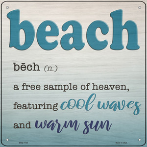 Beach Wholesale Novelty Mini Metal Square Sign
