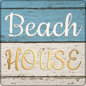 Beach House Wholesale Novelty Mini Metal Square Sign