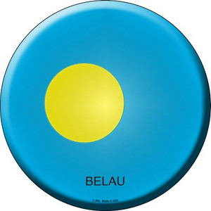 Belau Country Wholesale Novelty Metal Circular Sign
