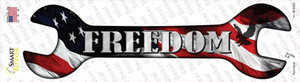 Freedom With American Flag Wholesale Novelty Wrench Sticker Decal