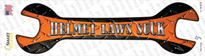 Helmet Laws Suck Wholesale Novelty Wrench Sticker Decal