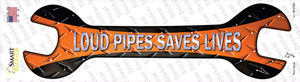 Loud Pipes Saves Lives Wholesale Novelty Wrench Sticker Decal
