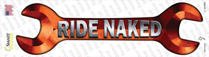 Ride Naked Wholesale Novelty Wrench Sticker Decal