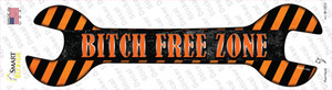 Bitch Free Zone Wholesale Novelty Wrench Sticker Decal