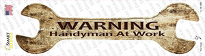Handyman At Work Wholesale Novelty Wrench Sticker Decal