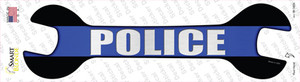 Police Thin Blue Line Wholesale Novelty Wrench Sticker Decal