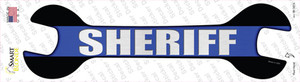Sheriff Thin Blue Line Wholesale Novelty Wrench Sticker Decal