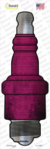 Pink Oil Rubbed Wholesale Novelty Spark Plug Sticker Decal