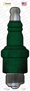 Green Oil Rubbed Wholesale Novelty Spark Plug Sticker Decal