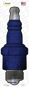 Blue Oil Rubbed Wholesale Novelty Spark Plug Sticker Decal