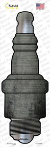 Gray Oil Rubbed Wholesale Novelty Spark Plug Sticker Decal