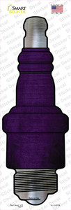 Purple Oil Rubbed Wholesale Novelty Spark Plug Sticker Decal
